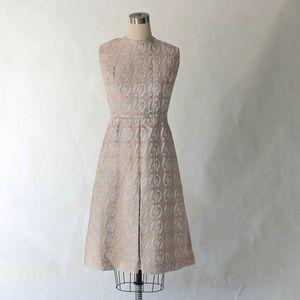 1960s Metallic Brocade Vintage Party Dress